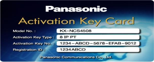Activation Key Card IP-PT PANASONIC KX-NCS4508